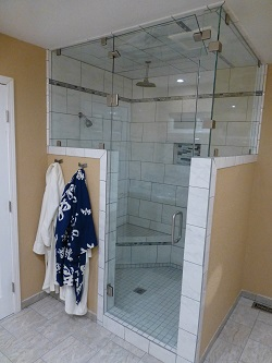 custom designed shower door