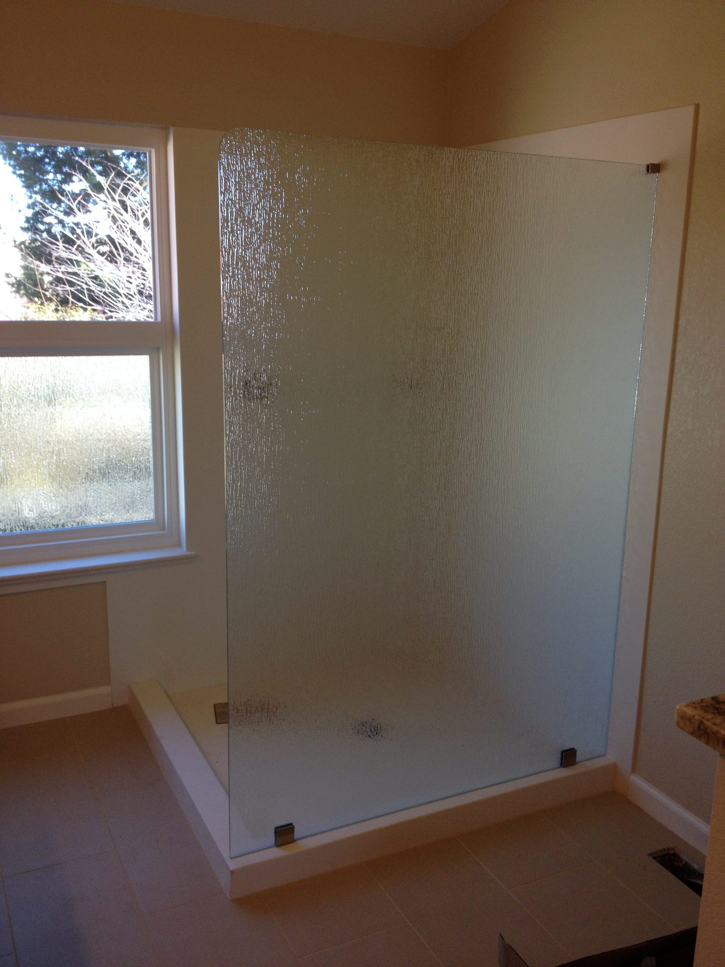 single shower glass_door panel