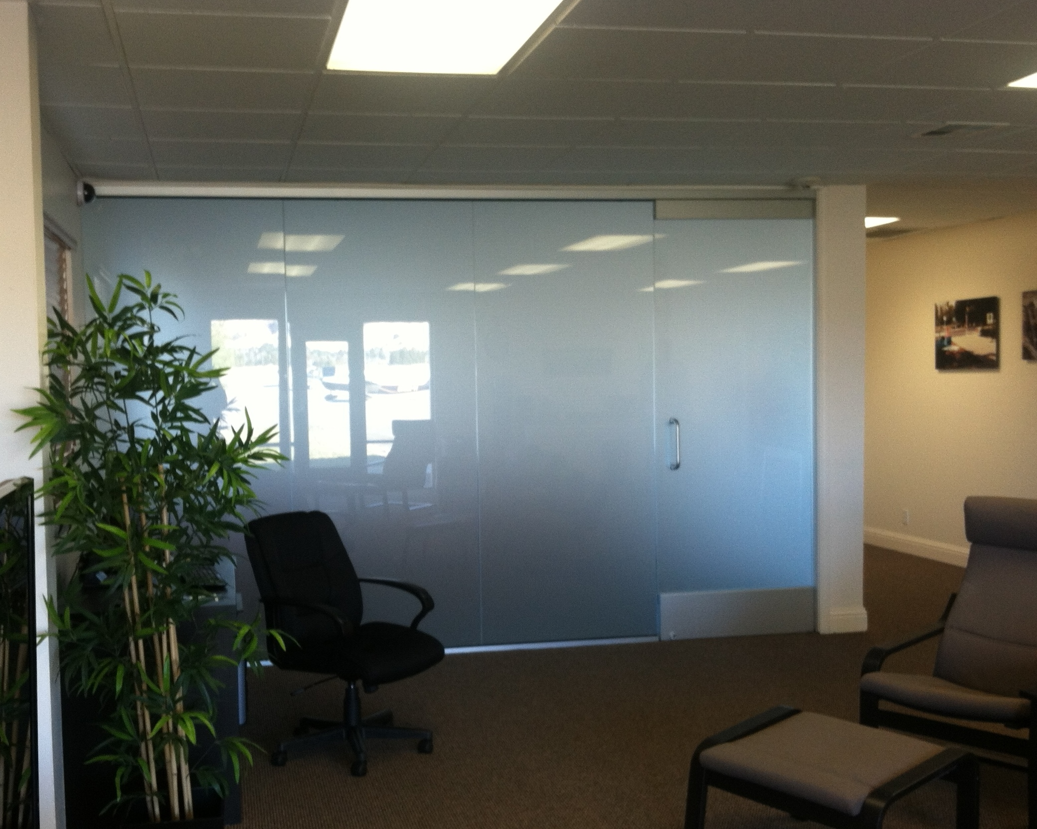 commerical glass walls in vacavill