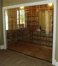 Unique Glass wall and glass shelves