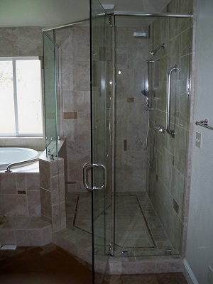 heavy plate glass shower door