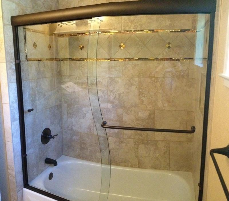 glass doors over tub
