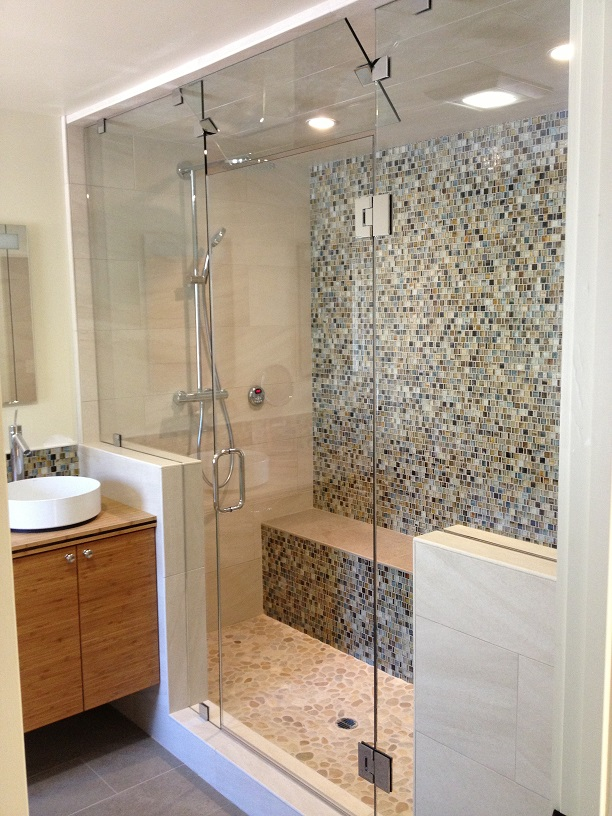 heavy plate shower door in vacaville