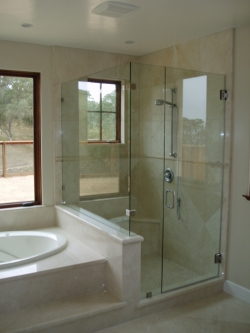 residential frameless shower door