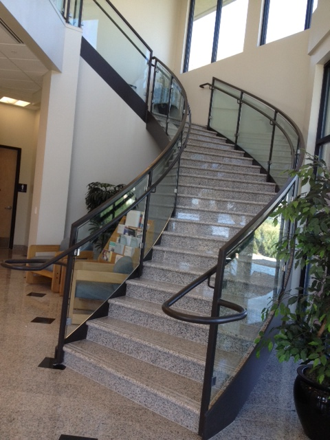 Vacaville glass stairway